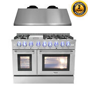 Thor Hrd4803u 48 Dual Fuel Range Stainless Steel Under Cabinet Hood Appliance