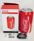 Coca Cola Mini Can Shaped Fridge Refrigerator Holds 8 Cans Electric Cooler