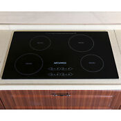 31 5 Electric Induction Cooktop 4 Burners Smooth Surface Glass Plate Cooktops