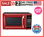 Mainstays 0 7 Cu Ft 700 Watt Microwave Red With 10 Power Levels