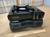 Used Portable Butane Gas Stove Range Csa Approved W Carry Case Camping Cooking