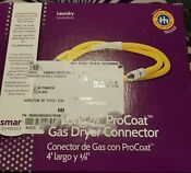 Smart Choice 4 Long 3 8 Procoat Gas Dryer Safety Hose Yellow Connection Steel