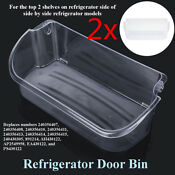 2 Refrigerator Gallon Door Bin Shelf Fit Frigidaire 240356402 Ap2549958 Ps430122