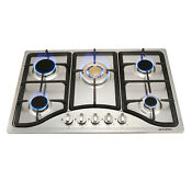 30 Stainless Steel Built In Kitchen 5 Burner Stoves Gas Hob Cooktops Hs5710gd