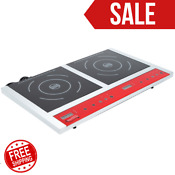 Double Countertop Induction Range Cooker Restaurant Home Nsf 120v 1800w Ic18db