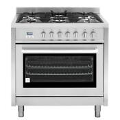 Cosmo F965 36 Dual Fuel Professional Style Range Stainless Steel
