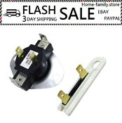 Cycling Thermostat Kit Thermal Fuse Electric Whirlpool Kenmore Dryer Roper Sears