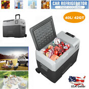 42qt Portable Electric Refrigerator Vehicle Car Cooler Freezer Compressor Fridge