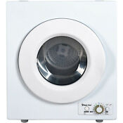 Electric Dryer Compact Compact Stainless Steel Tub Durable Apartment 2 6 Cu Ft