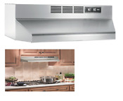 Ductless Under Cabinet Range Hood Light Stainless Steel Incandescent 30 Inch New