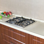 23 Stainless Steel 4 Burner Built In Gas Cooktop Lpg Ng Gas Hob Kitchen Cooker