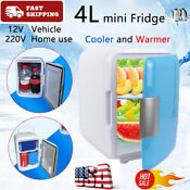 Us 4l Mini Dorm Fridge With Freezer Refrigerator Comfortable Warmer Office Home