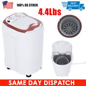 4 4lbs Portable Washing Machine Mini Compact 1 Tub Laundry Washer Spin Dryer