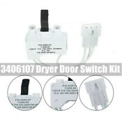 Genuine New 3406107 Dryer Door Switch Kit For Whirlpool Maytag Kenmore Us