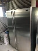 Sub Zero 48 Classic Built In Refrigerator Freezer Stainless Steel Mint Cond