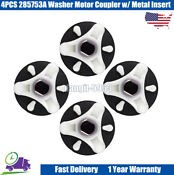4pcs 285753a Washer Motor Coupler W Metal Insert For Whirlpool Kenmore Roper Us