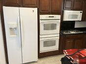 Ge Kitchen Appliances Package Double Oven Refrigerator Microwave Gas Cooktop