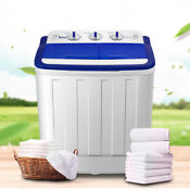 16lbs Portable Mini Washing Machine Compact Twin Tub Laundry Washer Spiner Dryer