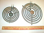 2 Hotpoint Ge Electric Range Calrod Surface Burner Coils Large Small Elements
