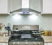 Akdy Europe 30 Kitchen Wall Mount Stainless Steel Range Hood Stove Vents