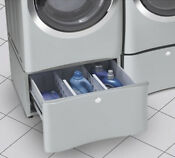 Electrolux 15 In Laundry Pedestal With Storage Drawer In Silver Sands
