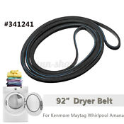 92 Dryer Rib Belt For Maytag Whirlpool Amana 341241 Ap2946843 Ps34699
