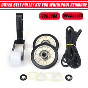 Dryer Belt Pulley Kit For Whirlpool 4392065 691366 341241t Ap3131942