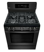 Lg Easyclean 5 Burners 5 4 Cu Convection Matte Black Stainless Oven Stove Range
