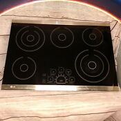 Lg Black Electric Cooktop Stove Top 5 Burner 30 Inch Glass Radiant Surface