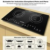 Cookapd Portable Electric Stove Induction Cooktop Electric Cooker With 2