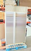 Will Ship Sub Zero 48 No Flaw Stainless Steel Built In Refurbished Refrigerator