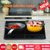 Electric Double Induction Hot Plate Stovetop Hob 2000w Touch Heating Plate Hob