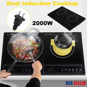 Electric Double Induction Hob 2000w 2 Hobs Induction Hob Kitchen Home Use
