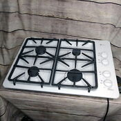 Ge Profile White 30 Gas Cooktop Stovetop Range With 4 Burners