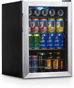 Beverage Refrigerator Cooler With 90 Can Capacity Glass Mini Bar Beer Fridge New