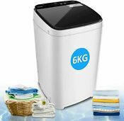 13 6lbs Full Automatic Washing Machine Portable Top Load Washer And Dryer 2 In 1