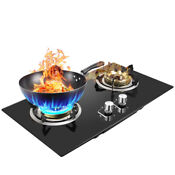 2 Burners Kitchen Liquefied Gas Stove Household Kitchen Cooktops Cooker Black Ce