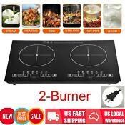 220v 2 Burner Electric Cooktop Stove Touch Control Worktop Electric Ceramic Hob