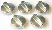 Lot Of 5 Wb03k10303 For Ge Range Cooktop Control Knob Chrome Ap4980246 Ps3486484