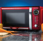 Nostalgia Electrics Retro Series 0 7 Cubic Foot Microwave Oven Red Rmo770red