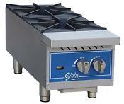 Globe Ghp12g 12 Natural Gas Hot Plate 2 Burners With Manual Controls