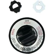 Stanco 118 Universal Fit Gas Oven Knob Black