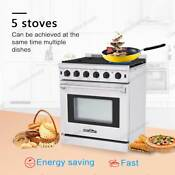Thor Kitchen Lrg3001u 30 Stainless Steel Gas Range Oven With 5 Burner Cooking