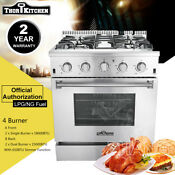 Thor Kitchen Cooker Stove 30 Gas Range Oven Hrg3026u Stainless Steel 4 Burners