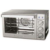 Waring Pro Co1000 9 Cu Ft 1700 Watt Convection Oven Stainless Steel Silver