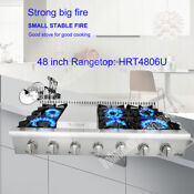 Thor Kitchen 48 Gas Rangetop Cooktop 18 000btu Stainless Steel Griddle Hrt4806u