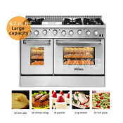 Thor Kitchen Gas Range 48 Cooker Double Oven Stainless Steel Cooktop 6burners