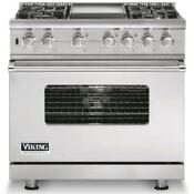 Viking Professional Series 36 Pro Style Dual Fuel Range Stainless Vdsc5364gss