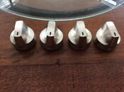 Ge Gas Range Stainless Knobs 4 Pieces New Light Scratches Part Wb03x28125