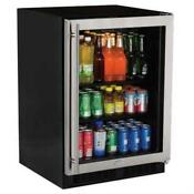 Marvel 5 6 Cu Ft 24 Stainless Steel Glass Door Beverage Center Ml24bcg0rs